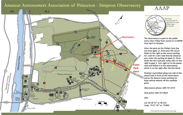 AAAP Simpson Observatory Map