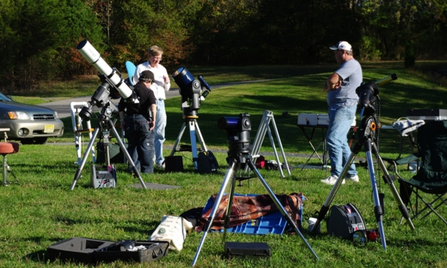Observers Prepare Their Scopes