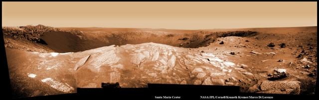 Panoramic view of Santa Maria Crater