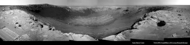 Santa Maria Crater - Sol 2454