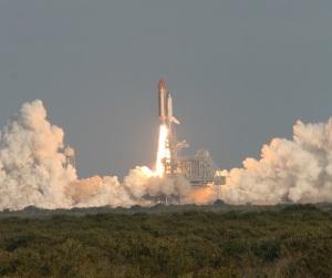 STS 133 Blasts Off