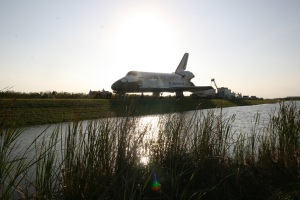 Discovery Towed from the Shuttle Landing Facility to Orbiter Processing Facility-2