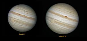 Comparing apparent sizes of Jupiter