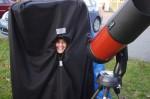 Lynn testing the observing tent