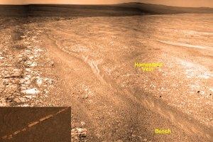 An Unusual Vein of Deposited Rock on Mars
