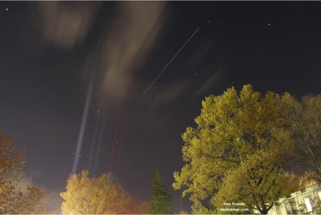 ISS over Princeton, April 10, 2012.  Credit: Ken Kremer