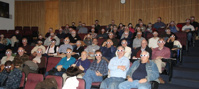 Big crowd enjoys Mars 3-D during Dr. Kremer's Dec 11 talk about NASA's Curiosity rover. Credit: Dr. Kremer