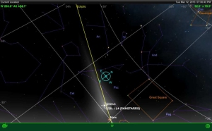 Position of PANSTARRS generated using SkySafari+ iPad app