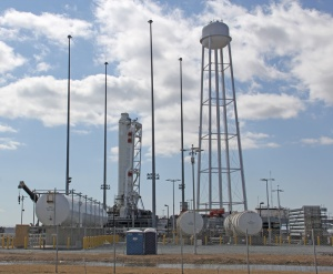 First Stage of Antares Rocket at Wallops Flight Facility