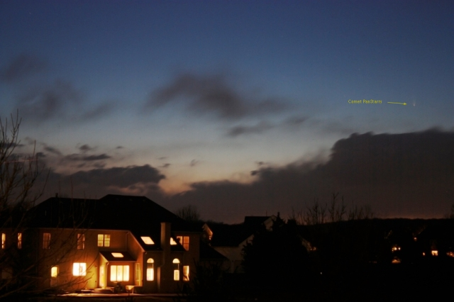 The View of Comet PANSTARRS from Suburban NJ, March 19. Photo Credit: Robert Vanderbei