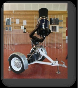 Telescope on wheels