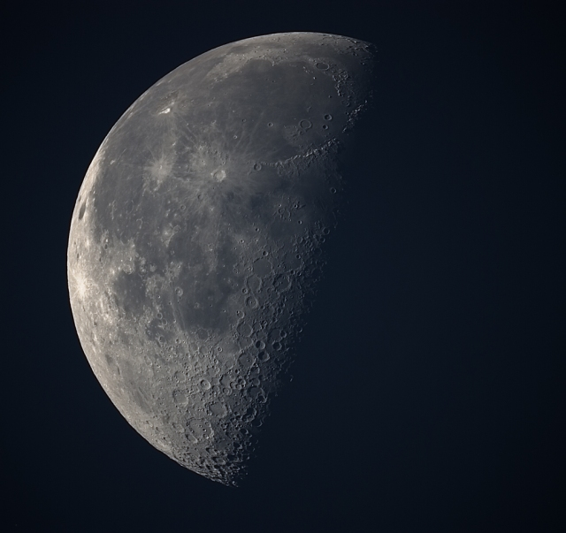 Moon. Photo taken by Bob Vanderbei at 5:41am, May31, 2013, 8 minutes after sunrise (5:32am).
