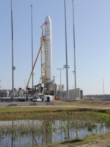 Antares rocket will launch Cygnus spacecraft to the ISS from Launch Pad 0A at NASA Wallops Flight Facility, VA. Credit: Ken Kremer/kenkremer.com