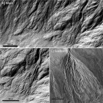 Debris flows. Credit: NASA/JPL/UofA for HiRISE