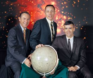 Apollo 13 Crew: Commander, James A. Lovell Jr., Command Module pilot, John L. Swigert Jr.and Lunar Module pilot, Fred W. Haise Jr. Photo Credit: NASA