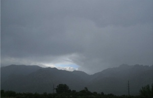 Rain over Mt Lemmon and the Catalina Mountains on Oct 19.