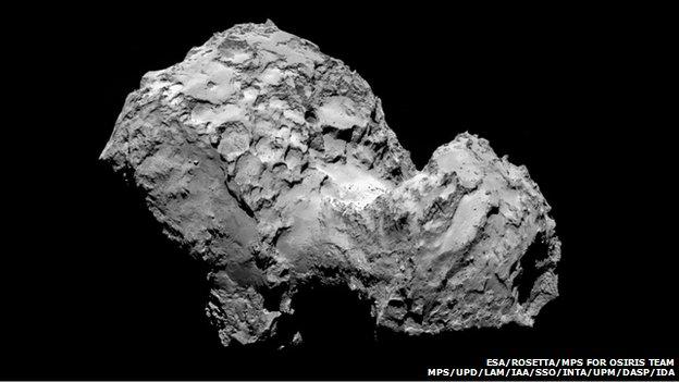 Comet 67P/Churyumov-Gerasimenko   Credit: ESA