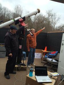 John Church and Gene Ramsey point the way.  Credit: Jen Skitt