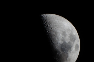 The picture of the moon was taken using my Sony DSLR and my Meade ETX90. I created the photo with an 1/200 second exposure and an ISO of 1600.