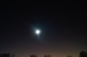 The picture of the moon was taken at the unionville vineyard using a Sony DSLR. The image was made with a 30 second exposure and the ISO at 800.