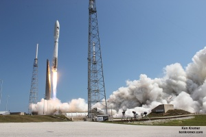 Blastoff of the X-37B spaceplane on United Launch Alliance Atlas V rocket on the OTV-4 satellite for the U.S. Air Force on May 20, 2015 from Cape Canaveral Air Force Station, Florida. Credit: Ken Kremer/kenkremer.com