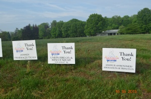 Thank You signs presented by the CPA