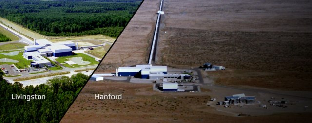 LIGO Facilities in Washington and Louisiana (Credit: Caltech)