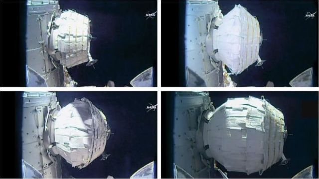 The Bigelow Expandable Activity Module (Beam) has been opened up on the space station.