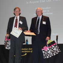 Gene accepting 'Member in Good Faith' award at the 50th anniversary club.
