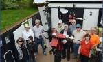 3 centuries of Hastings telescope and Mercury transits – proud AAAP members at the Observatory.