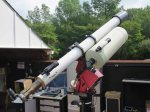 Takahashi Mewlon 250 telescope co-mounted with the Hastings refractor on the Paramount-ME at Washington Crossing Observatory