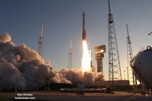 United Launch Alliance Atlas V rocket lifts off on Sept 8, 2016 from Space Launch Complex 41 at Cape Canaveral Air Force Station carrying NASA's OSIRIS-REx spacecraft on the first U.S. mission to sample an asteroid.  Credit: Ken Kremer/kenkremer.com