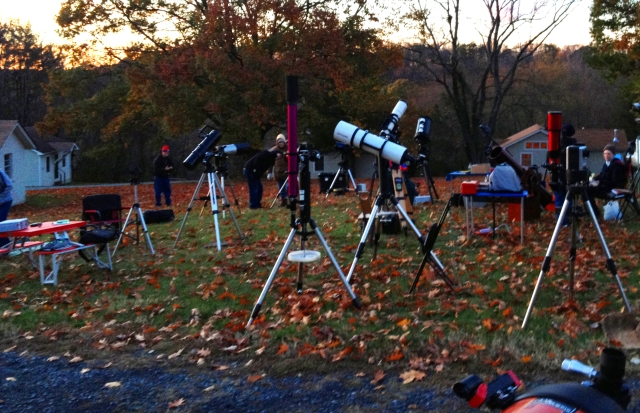 The StarQuest observing field as twilight begins to fade Oct 28.