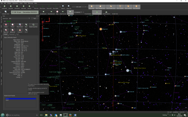 Screenshot of the TheSkyX showing the star map and user interface.