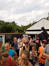 Eclipse crowd at Washington Crossing Observatory
