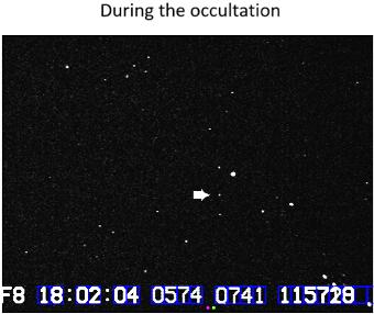 White Dwarf during the occultation.