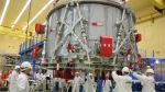 The European Service Module pushes the Orion capsule through space