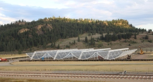 CHIME radio telescope.