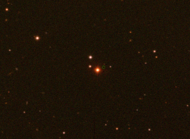 Color image of the Wolf 359 star field, obtained in late 2019.